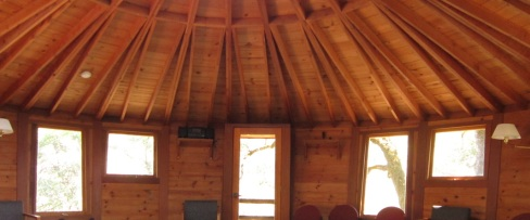 The spacious and beautifully crafted yurt